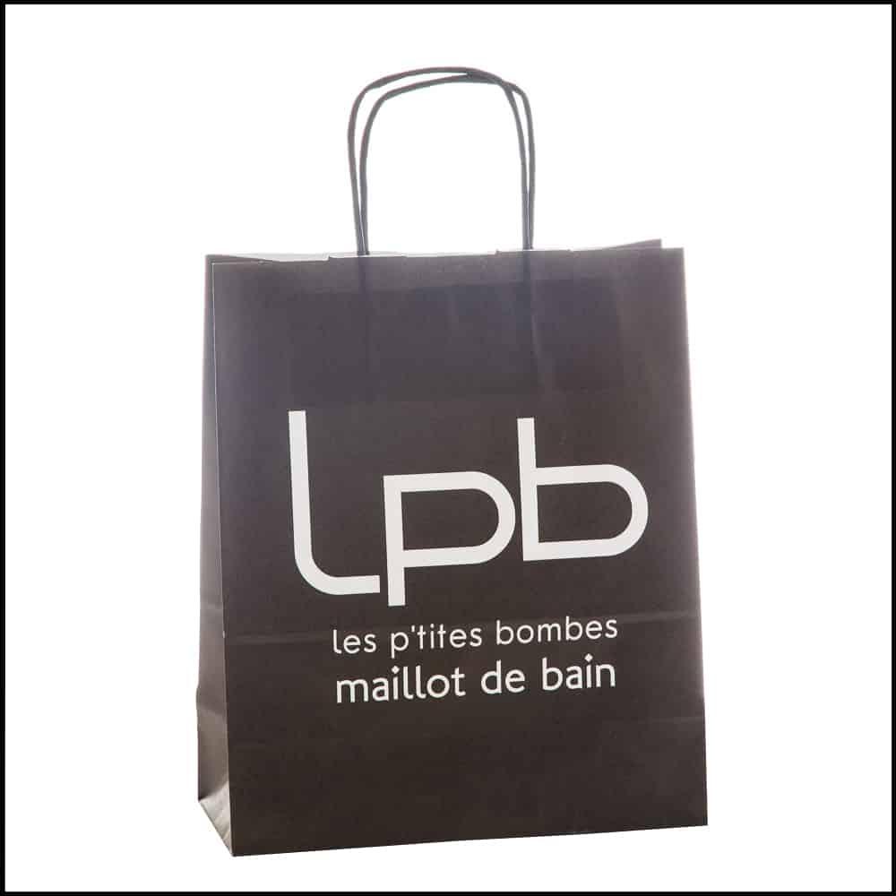 un sac en papier kraft avec impression logo