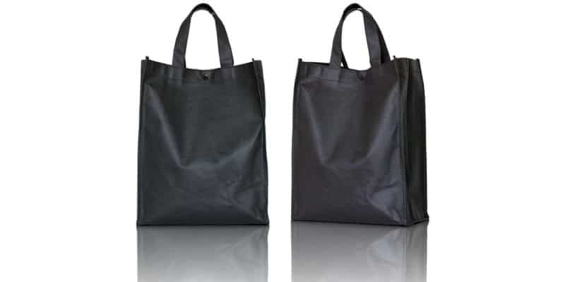 deux sacs réutilisables noir