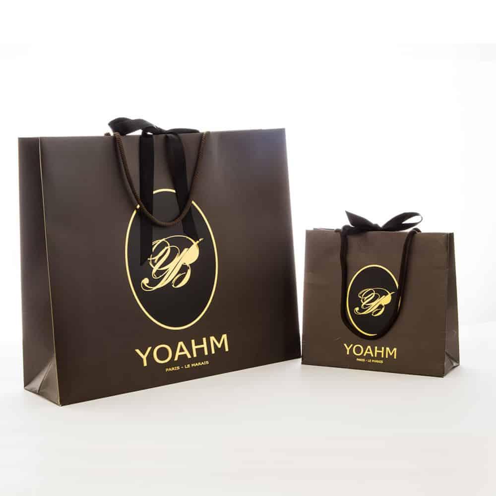 deux sacs papier luxe personnalisés