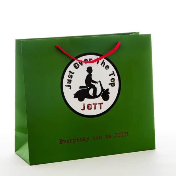 un sac pour boutique Jott vert