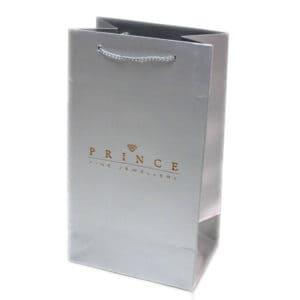un sac cartonné personnalisé avec une couleur métallisée