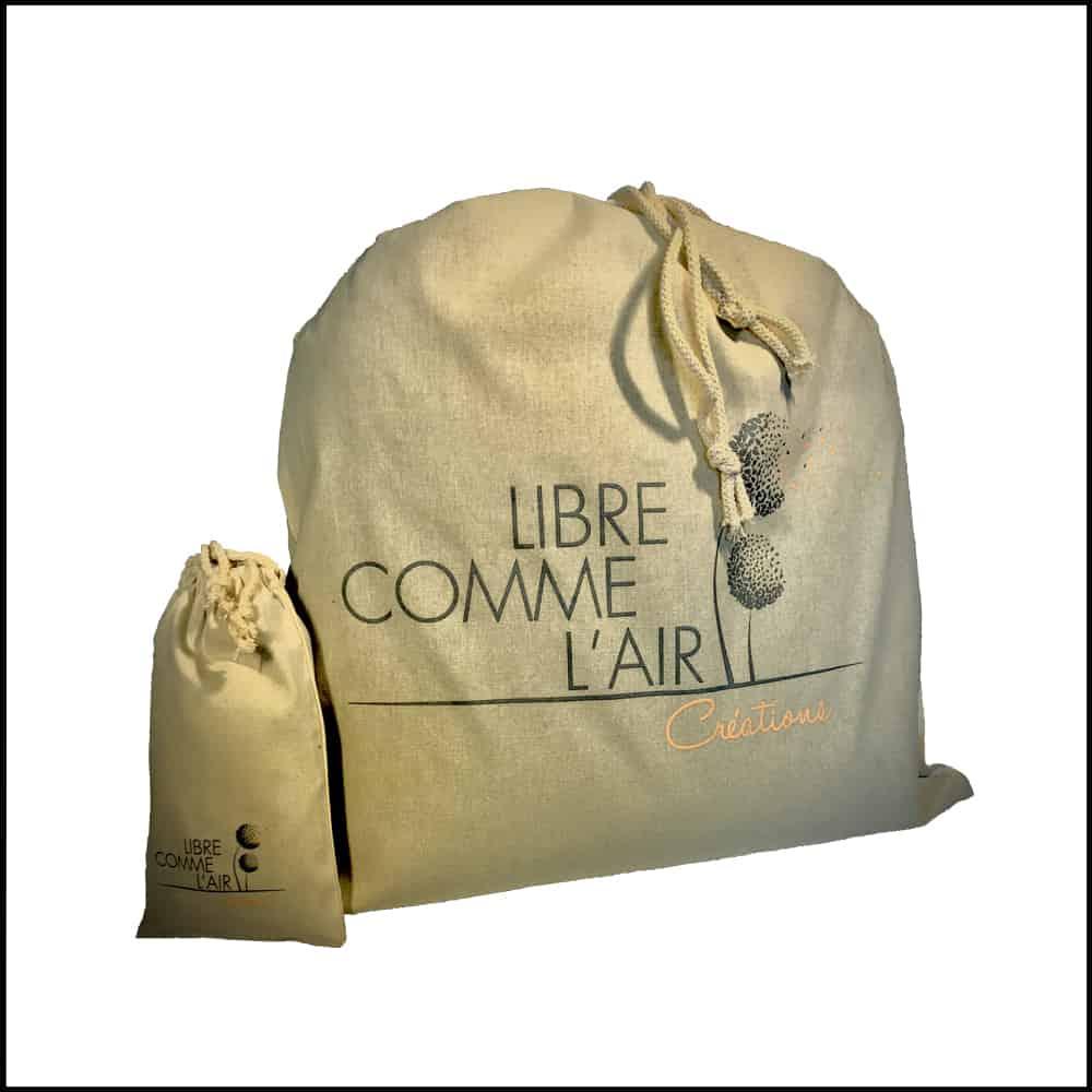 sac et pochette en coton personnalisés