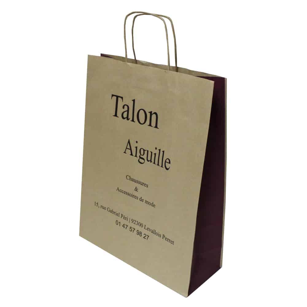 un sac kraft papier brun pour boutique