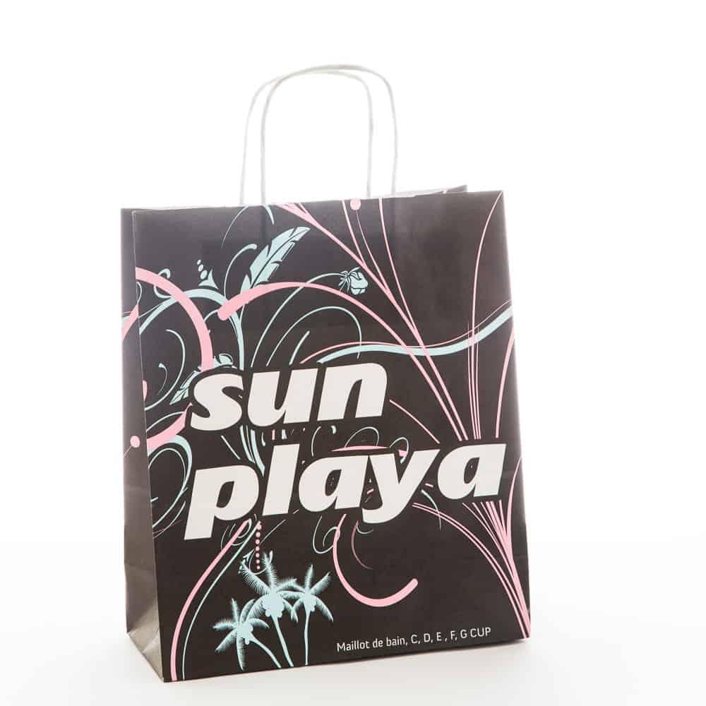 un sac kraft personnalisé pour une boutique de maillot de bain
