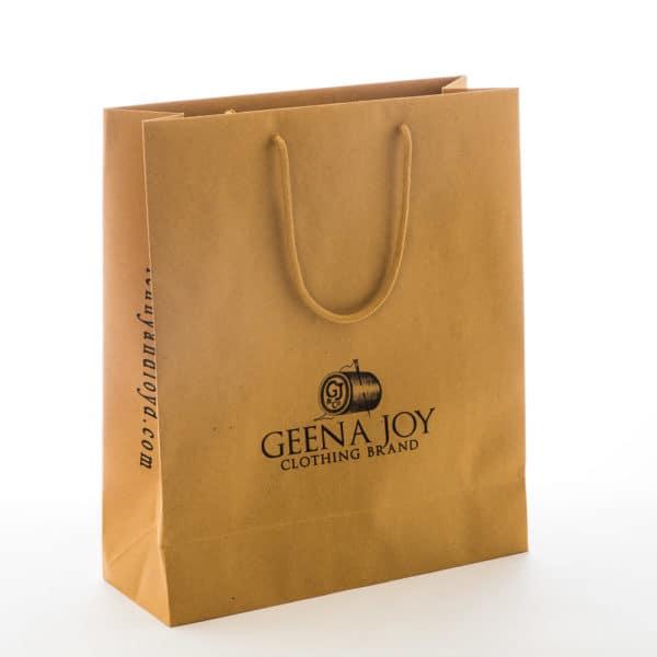 un sac luxe en kraft brun