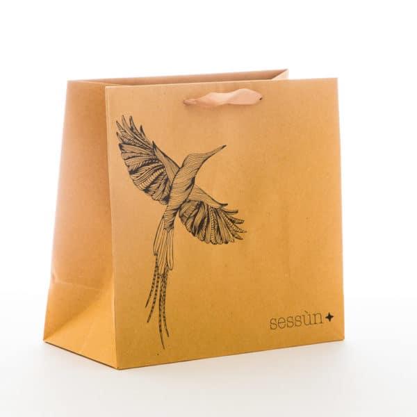un sac papier en kraft de luxe pour Sessun