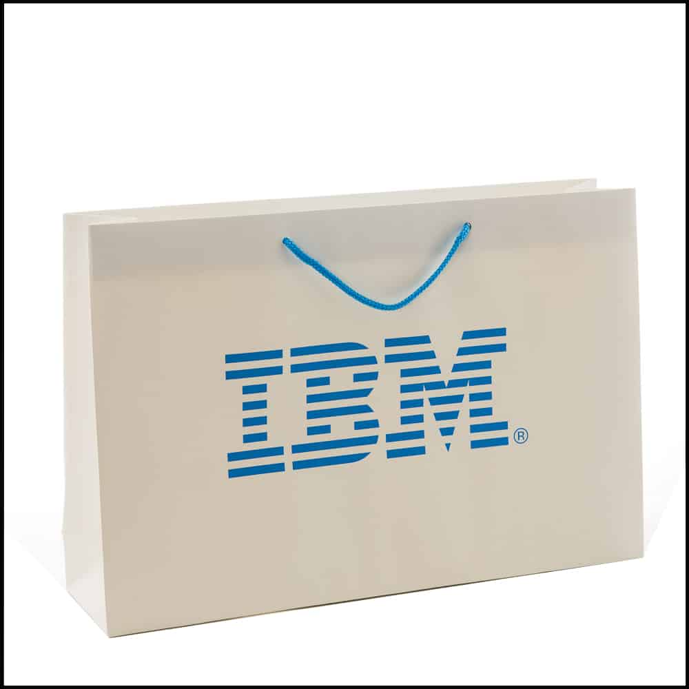 un sac publicitaire pour IBM