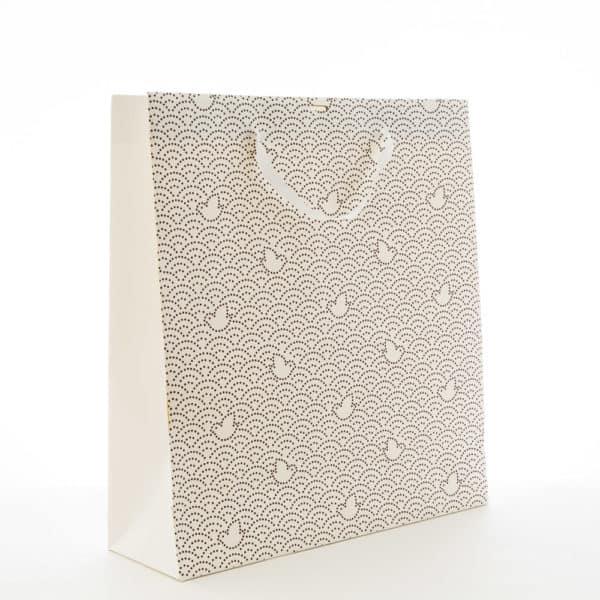 un sac papier avec motif imprimé