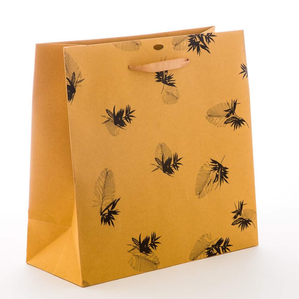 un sac en papier recyclé écologique
