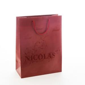un sac pour bouteille crée pour Nicolas