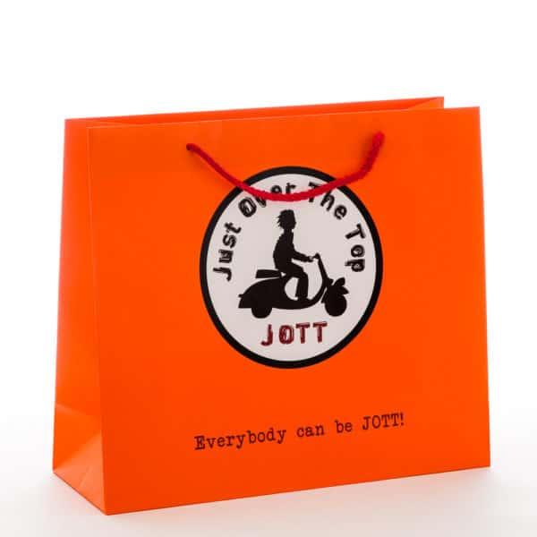 un sac publicitaire pour JOTT orange