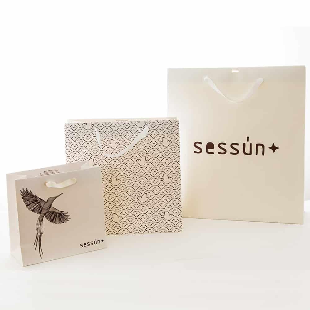 des sacs papier de luxe pour Sessun