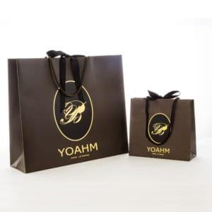 des sacs papier personnalisés pour le magasin Yoahm à Marseille