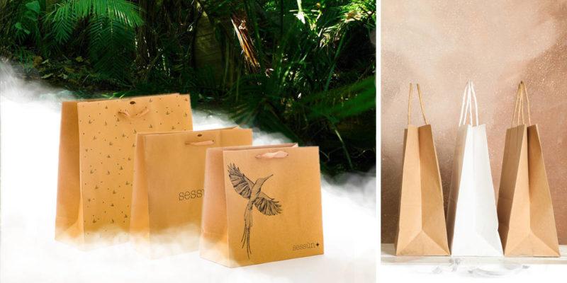 trois sacs papier kraft de luxe